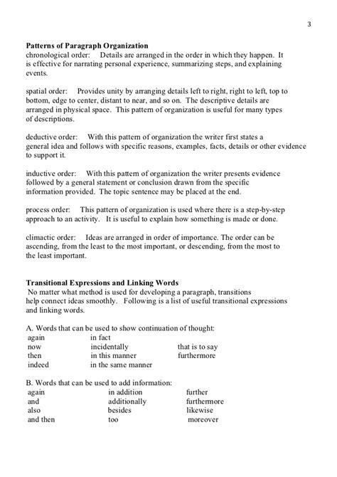 chronological order essay exles
