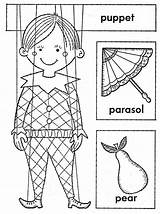 Coloring Puppet Boy Coloringsheet Update sketch template