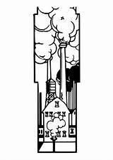 Coloring Factories Printable sketch template