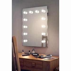 Miroir Avec Lumière Pour Maquillage : miroir pour maquillage et loge de th tre k90 hollywood ~ Zukunftsfamilie.com Idées de Décoration
