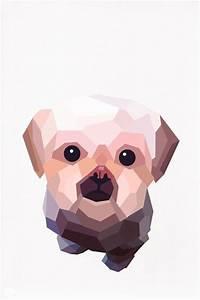 Custom pet portrait Geometric illustration Dog by ...