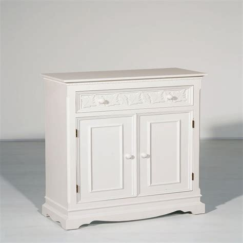 meuble d 233 coratif 2 portes et un tiroir en bois blanc lucy