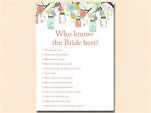 bridal shower words of wisdom cards mint and coral jars bridal shower