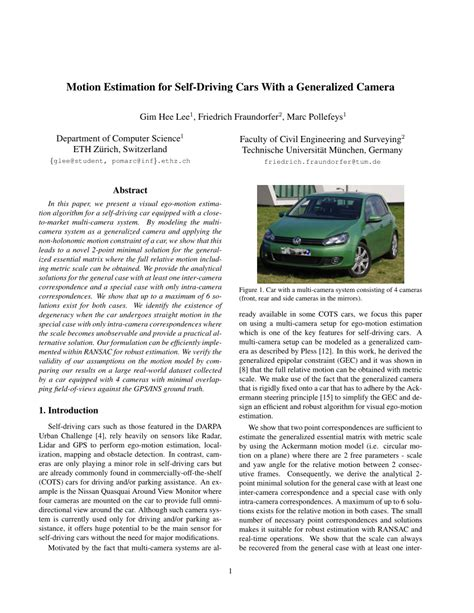 motion estimation   driving cars