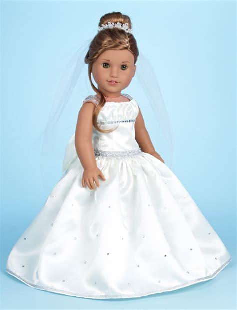 custom  communion wedding gown doll clothes