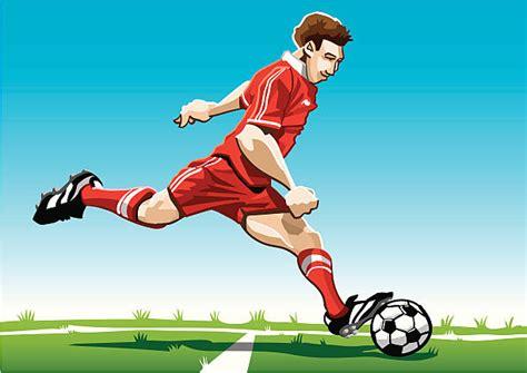 Cartoon Soccer Players Clip Art, Vector Images