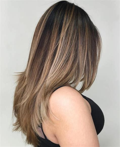 flattering balayage hair color ideas   brown