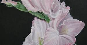 Art Helping Animals: Gladiolus Flower Painting by Della Burgus