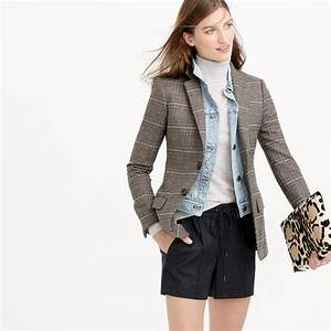 J.crew Collection Women's Ludlow Blazer In Plaid in Brown ...