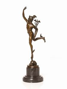 Bronze sculpture, hermes, mercury, figure, bronze figure ...