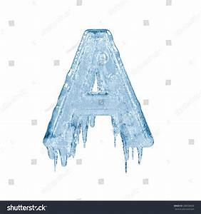 Letter A. Ice Font Isolated On White Background. Alphabet ...