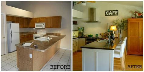 before and after small kitchen makeovers kitchen contest vote for the best makeover hooked on 9090