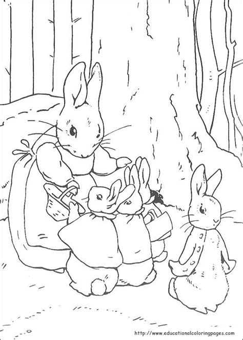 peter rabbit coloring pages educational fun kids
