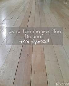 farmhouse floors plywood floor tutorial
