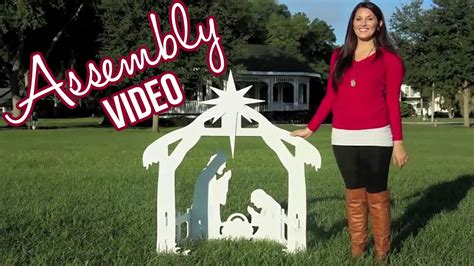 outdoor nativity sets assembly video youtube