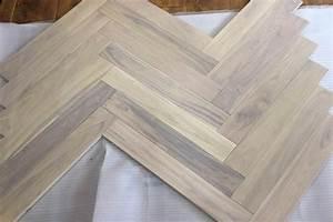 3x 3 439 grey white oak herringbone hardwood flooring With bleached parquet floors