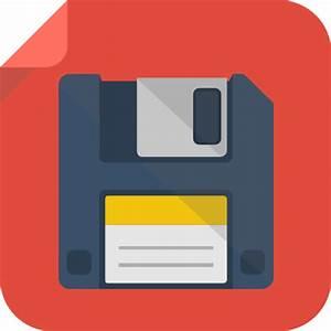 Icono Guardar, disket, guardar, guardar Gratis de Flat ...