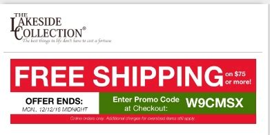 Kitchen Collection Coupon Code by Lakeside Collection Free Shipping Promo Code Discount