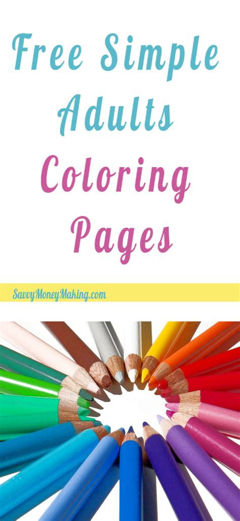 simple  easy adult coloring pages  printables