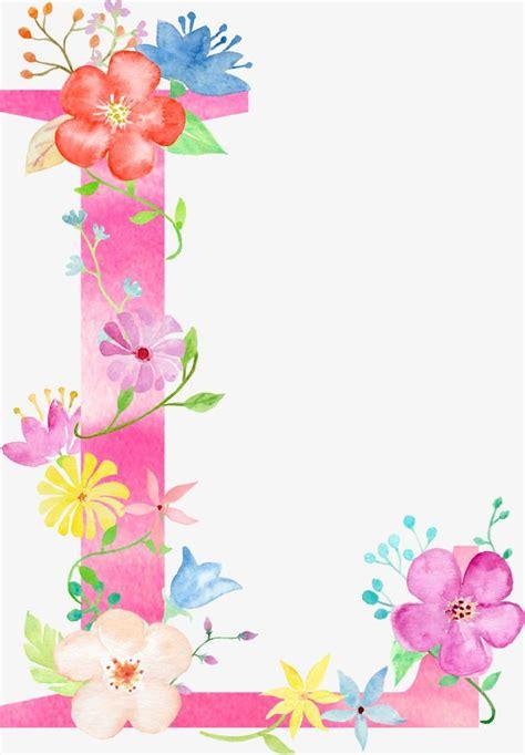 flowers letter  letter flower  png transparent clipart image  psd file