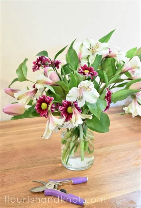 how to arrange flowers in a vase how to arrange flowers in a vase without floral foam