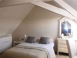 chambre beige et blanche With chambre blanche et taupe
