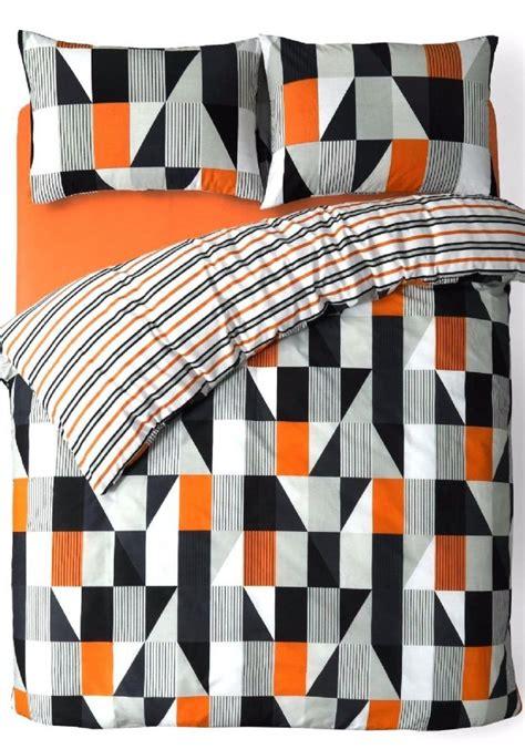 27551 orange and grey bedding black grey orange trendy striped design reversible bedding