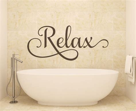Blue And Brown Bathroom Wall Decor by Bathroom Wall Relax Wall Decals Wall Decals By