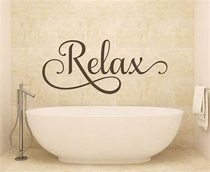 Bathroom wall art relax wall decals wall decals by for Wall art stickers for bathrooms