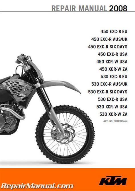 ktm   exc  xcr  motorcycle repair manual
