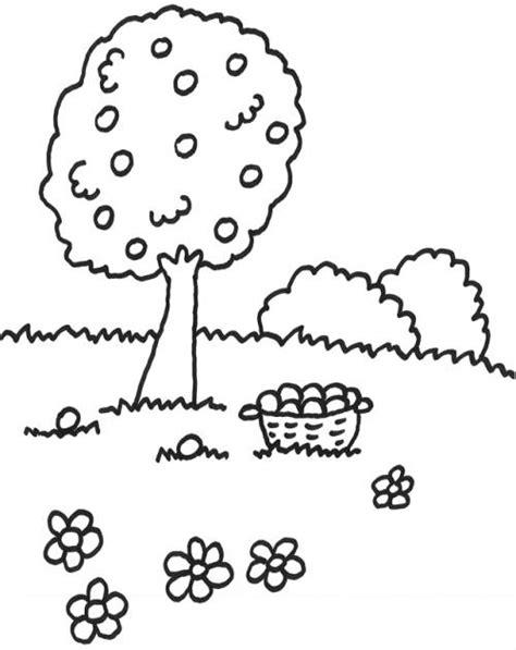 kostenlose malvorlage baeume obstbaum zum ausmalen