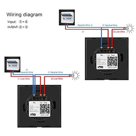 WIFI Smart Touch Switch Works with Amazon Alexa, Sonoff 1