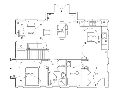 How To Draw Kitchen Floor Plans by Easy Drawing Plans With Free Program For Home Plan