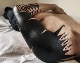 30 Extreme Blackout Tattoos  Girly Design Blog