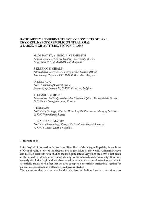 bureau d 騁ude belgique debatist issykkul pdf available