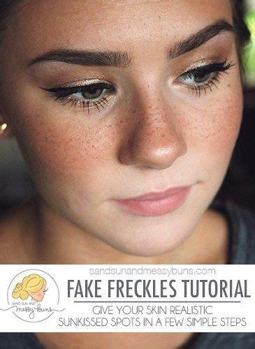 fake freckles  real fake freckles freckles makeup wedding makeup tips