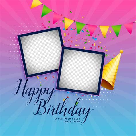 happy birthday celebration background  photo frame