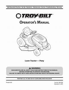 Troy Bilt Pony Parts Diagram
