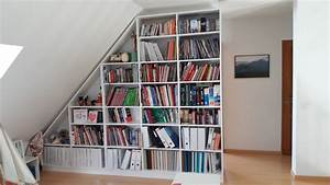 Sous Verre Sur Mesure : biblioth que sous pente sur mesure ~ Melissatoandfro.com Idées de Décoration