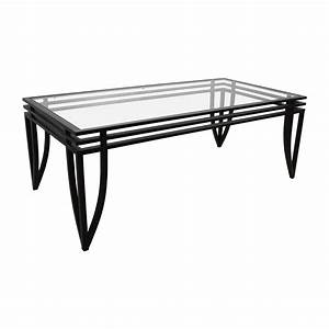77 off ashley furniture ashley furniture rectangular With black glass rectangular coffee table