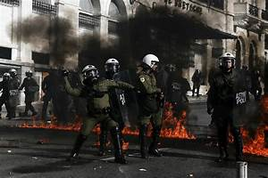 Greece general strike protest sees riot police clash with ...