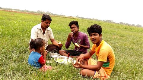 bangali style eating farm fresh cucumber sasha indian