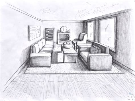 point perspective room  large images