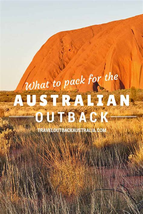 pack  outback australia  essential guide