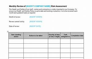 risk assessment monthly review template bizorb With health and safety review template