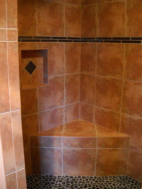 walk  shower pictures walk  shower niche bench seat
