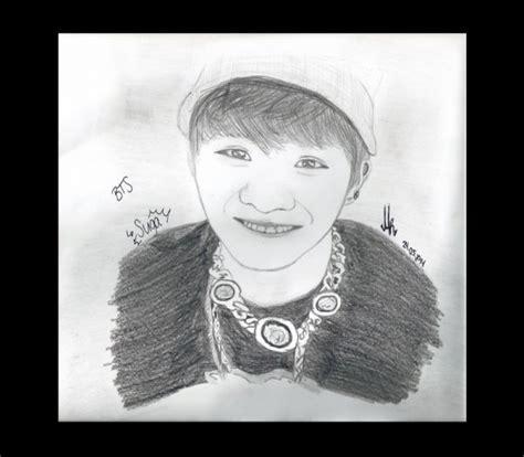dessins kpop de minrin bts suga written