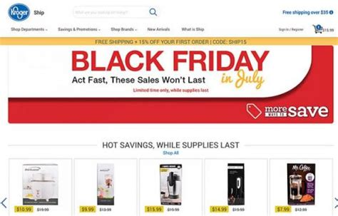 Kroger Takes On 'prime Day' With Wine, 'black Friday' Sale