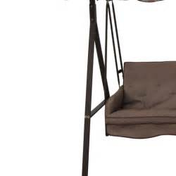 Menards Patio Swing Cushions by Replacement Canopy For Lowes 3 Person Swing Brown Garden