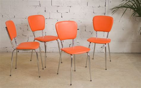 chaises orange chaises vintage ées 60 1960 60s d 39 époque